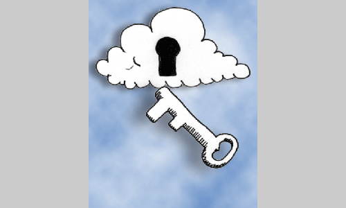 Key and cloud illustration sample